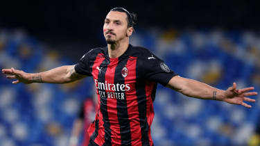 Swedish striker Zlatan Ibrahimovic plays club football for AC Milan in Italy