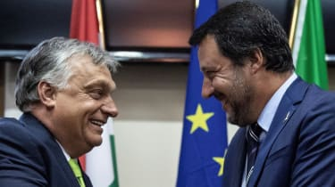 Viktor Orban and Matteo Salvini pictured in 2018