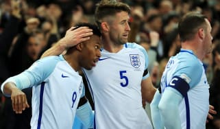 during the FIFA 2018 World Cup qualifying match between England and Scotland at Wembley Stadium on November 11, 2016 in London, England.