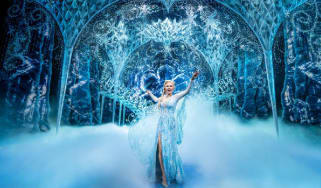 Scene from Frozen on stage