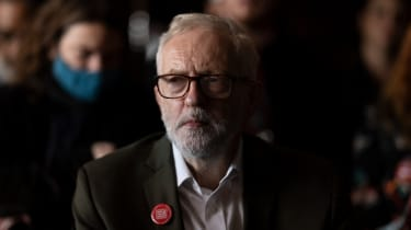 Jeremy Corbyn at a fringe meeting during the Labour Party conference on 28 September 2021