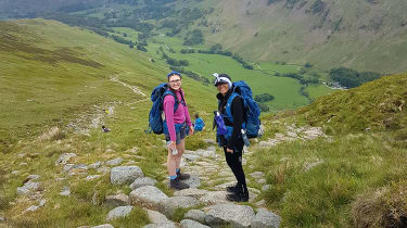 Students from Bolton School Girls's Division on a Duke of Edinburgh expedition