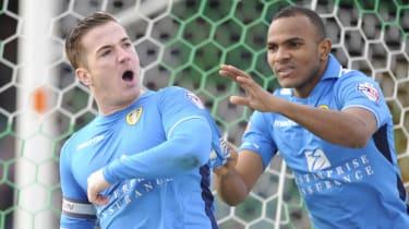 Leeds striker Ross McCormack celebrates a goal
