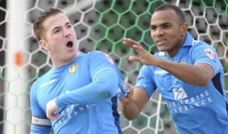 Leeds striker Ross McCormack celebrates a goal
