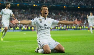 Javier Hernandez scores for Real Madrid