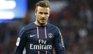 Paris Saint-Germain's English midfielder David Beckham is pictured on the pitch during the French L1 football match Paris Saint-Germain vs Nancy, on March 9, 2013 at the Parc-des-Princes stad