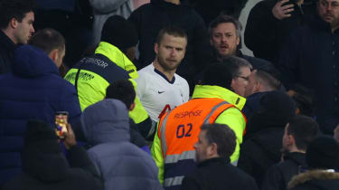 Tottenham defender Eric Dier went into the crowd to confront a fan after the FA Cup loss against Norwich