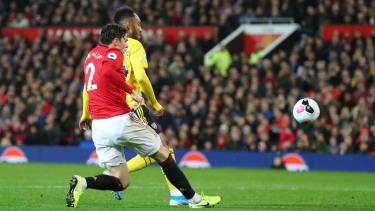 Pierre-Emerick Aubameyang scored Arsenal's equaliser against Man Utd at Old Trafford
