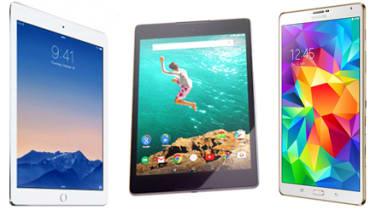 Apple iPad Air 2 vs Nexus 9 vs Samsung Galaxy Tab S