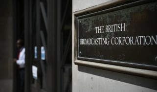 A sign outside Broadcasting House in London