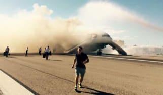 Plane Fire Las Vegas