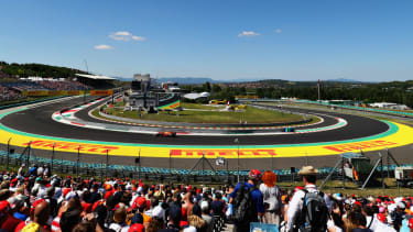 The F1 Hungarian GP takes place at the Hungaroring in Budapest