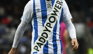 Huddersfield wore their new shirt in the pre-season match against Rochdale on 17 July