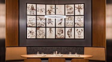 Downtown restaurant at Disney's Hotel New York - The Art of Marvel