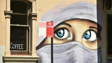 Muslim woman mural Sydney