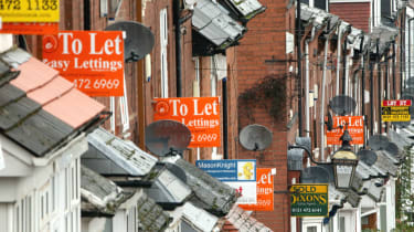 A row of houses to rent in Birmingham