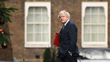 Boris Johnson walks into No. 10 Downing Street