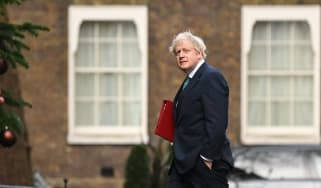 Boris Johnson walks into No. 10 Downing Street