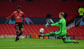 Marcus Rashford scored a hat-trick in Man Utd's 5-0 win over RB Leipzig
