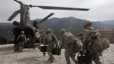 US troops in Korengal Valley, Afghanistan