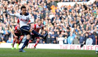 Dele Alli scores for Spurs against Southampton