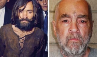 Charles Manson, convicted murderer, in 1971 and in 2009