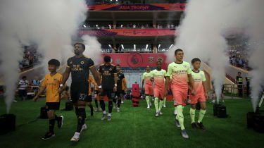 Wolves played Man City in the 2019 Premier League Asia Trophy in Shanghai, China