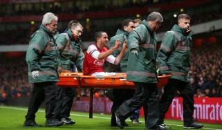 Arsenal injuries stretcher