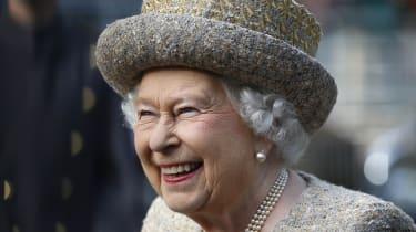 The Queen at the Flanders' Fields Memorial Garden at Wellington Barracks.