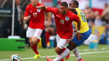 Alex Oxlade-Chamberlain during England's friendly in Miami