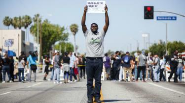 Peace protester, LA riots