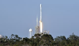 SpaceX Falcon 9 rocket at Kennedy Space Center