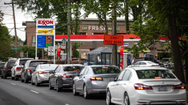 Fears the shutdown of the Colonial Pipeline because of a cyberattack would cause a gasoline shortage led to some panic buying