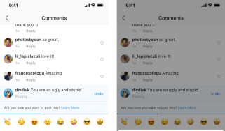 Instagram cyber bullying