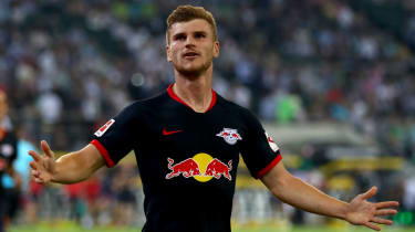 RB Leipzig striker Timo Werner has scored 11 goals in 28 internationals for Germany