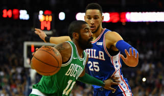 NBA Kyrie Irving Ben Simmons Boston Celtics Philadelphia 76ers The O2