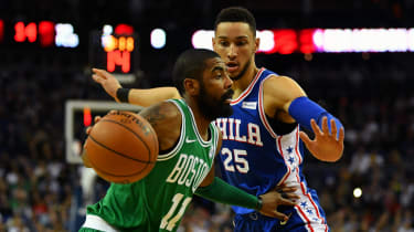 NBA Kyrie Irving Ben Simmons Boston Celtics Philadelphia 76ers The O2