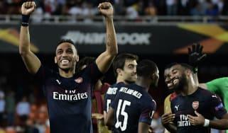 Arsenal striker Pierre-Emerick Aubameyang scored a hat-trick in the second leg against Valencia
