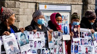 Protestors in Kazakhstan