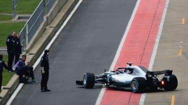 Valtteri Bottas Mercedes W09 car launch Silverstone