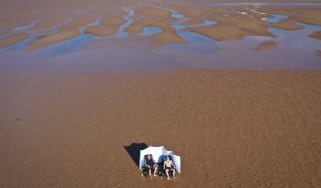 Social distancing beach