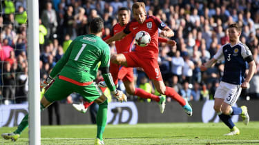 Scotland and England's last meeting was a 2-2 draw at Hampden in 2017
