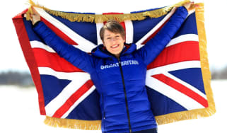 Lizzy Yarnold Team GB flag opening ceremony