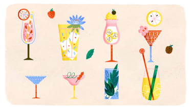 Cocktails around the world, illustration by Sol Linero