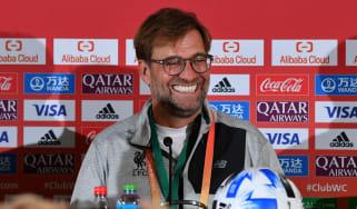Liverpool boss Jurgen Klopp speaks to the press ahead of the Fifa Club World Cup semi-final