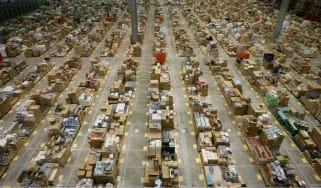 An Amazon warehouse in Milton Keynes