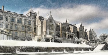 Bovey Castle covered in snow