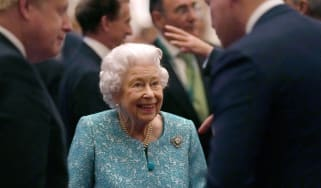 The Queen at a reception at Windsor Castle