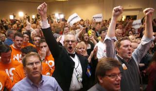 Republican supporters in Colorado
