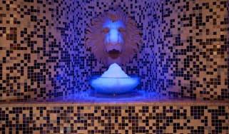 Ice fountain at The Gainsborough, Bath